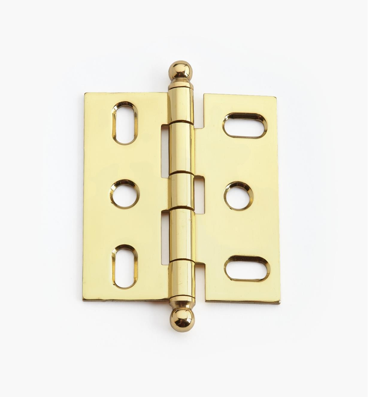 02H1201 - Polished Brass Ball-Tip Hinge