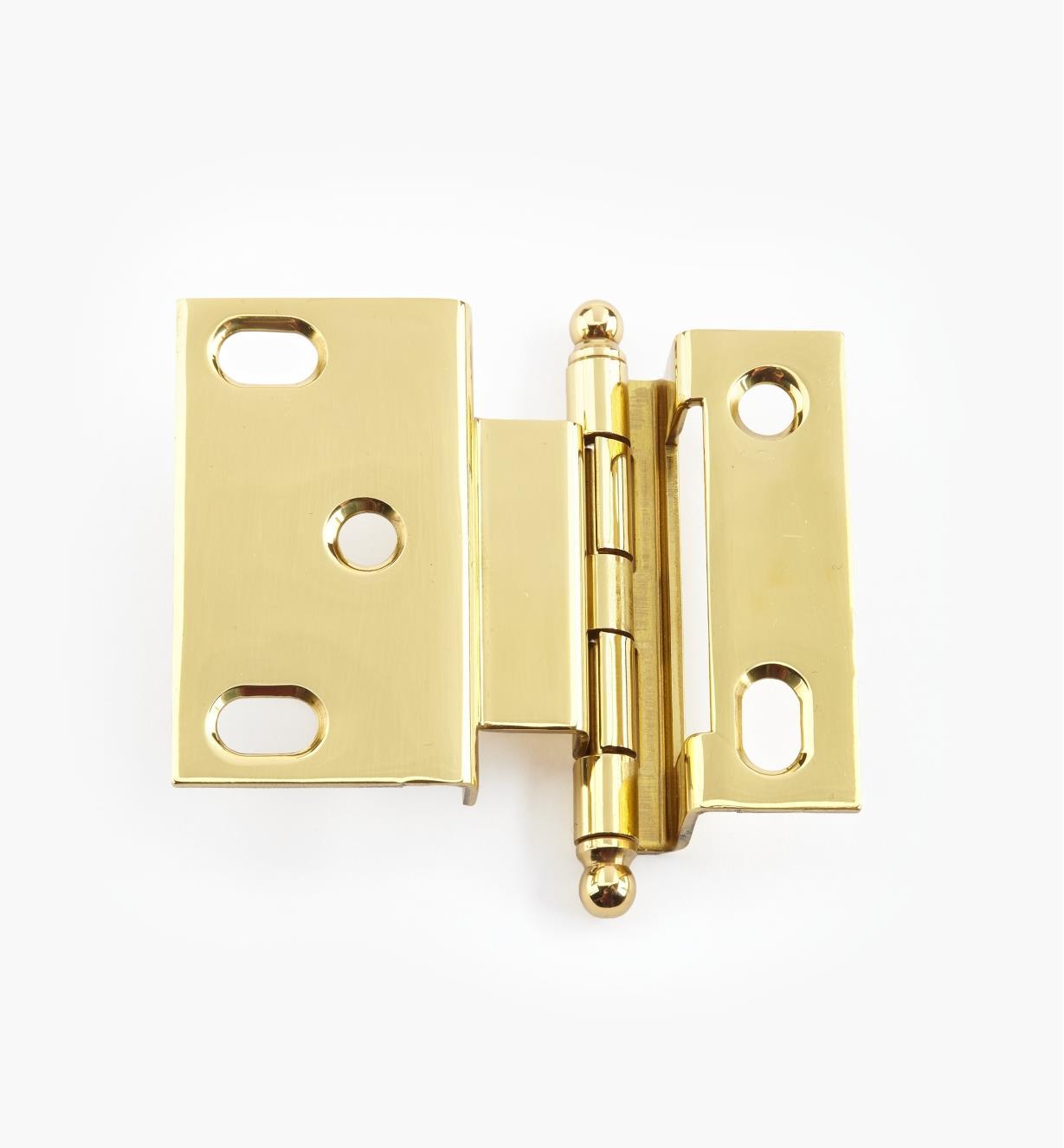 02H1204 - Polished Brass Offset Hinge/Ball