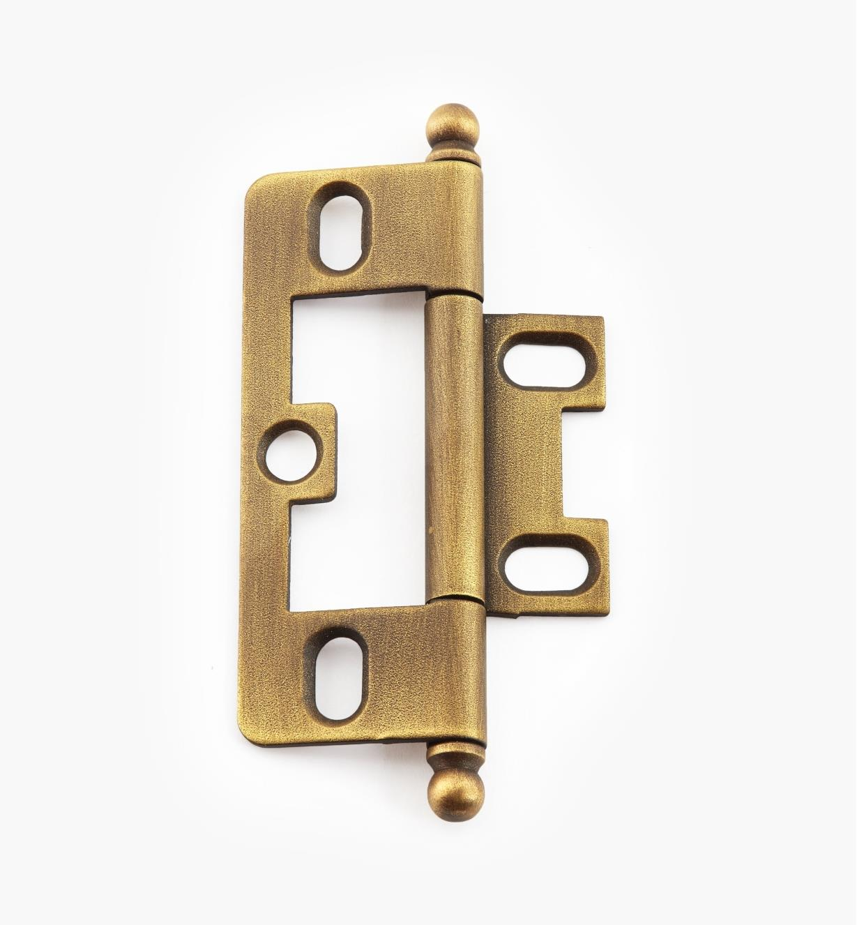 02H1222 - Weathered Brass No-Mortise Hinge/Ball
