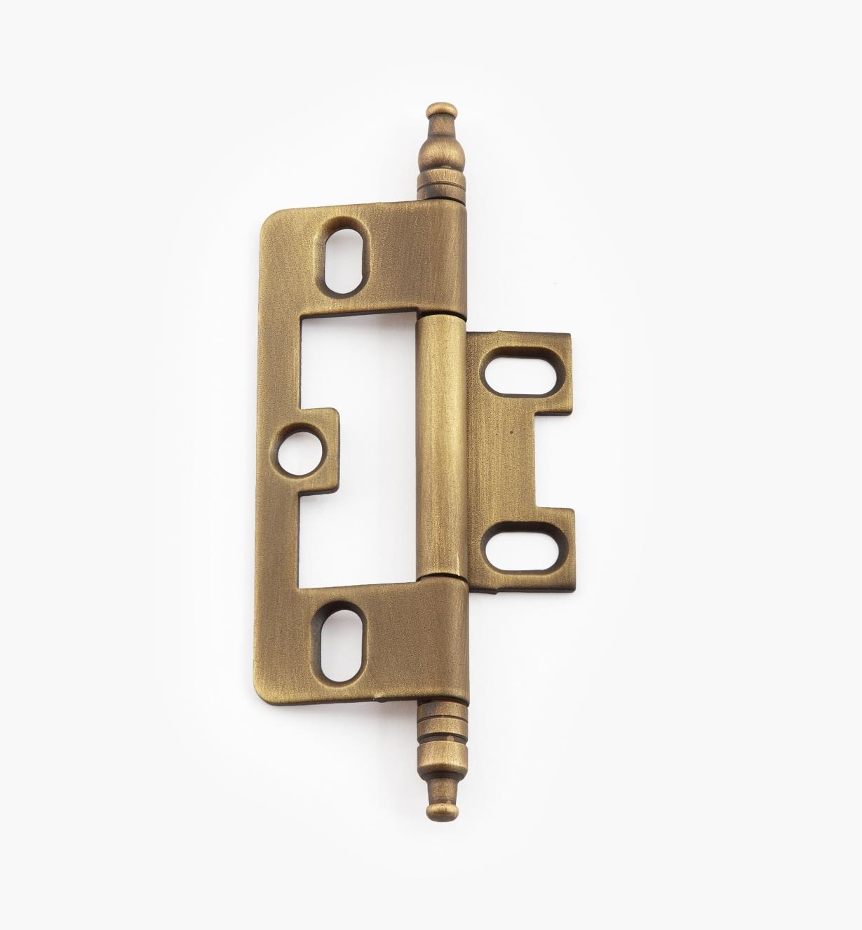02H1223 - Weathered Brass No-Mortise Hinge/Minaret