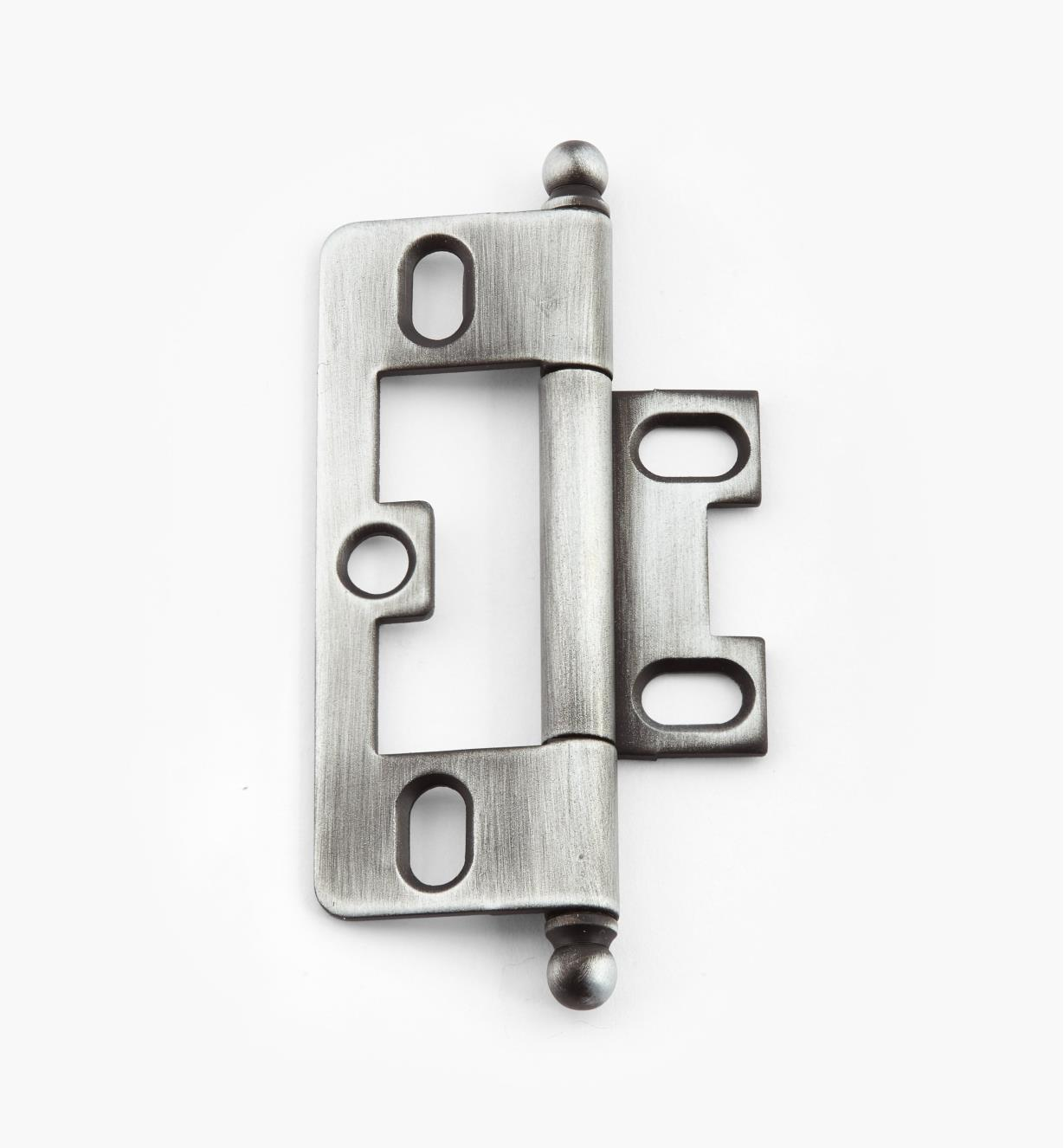 02H1242 - Weathered Pewter No-Mortise Hinge/Ball