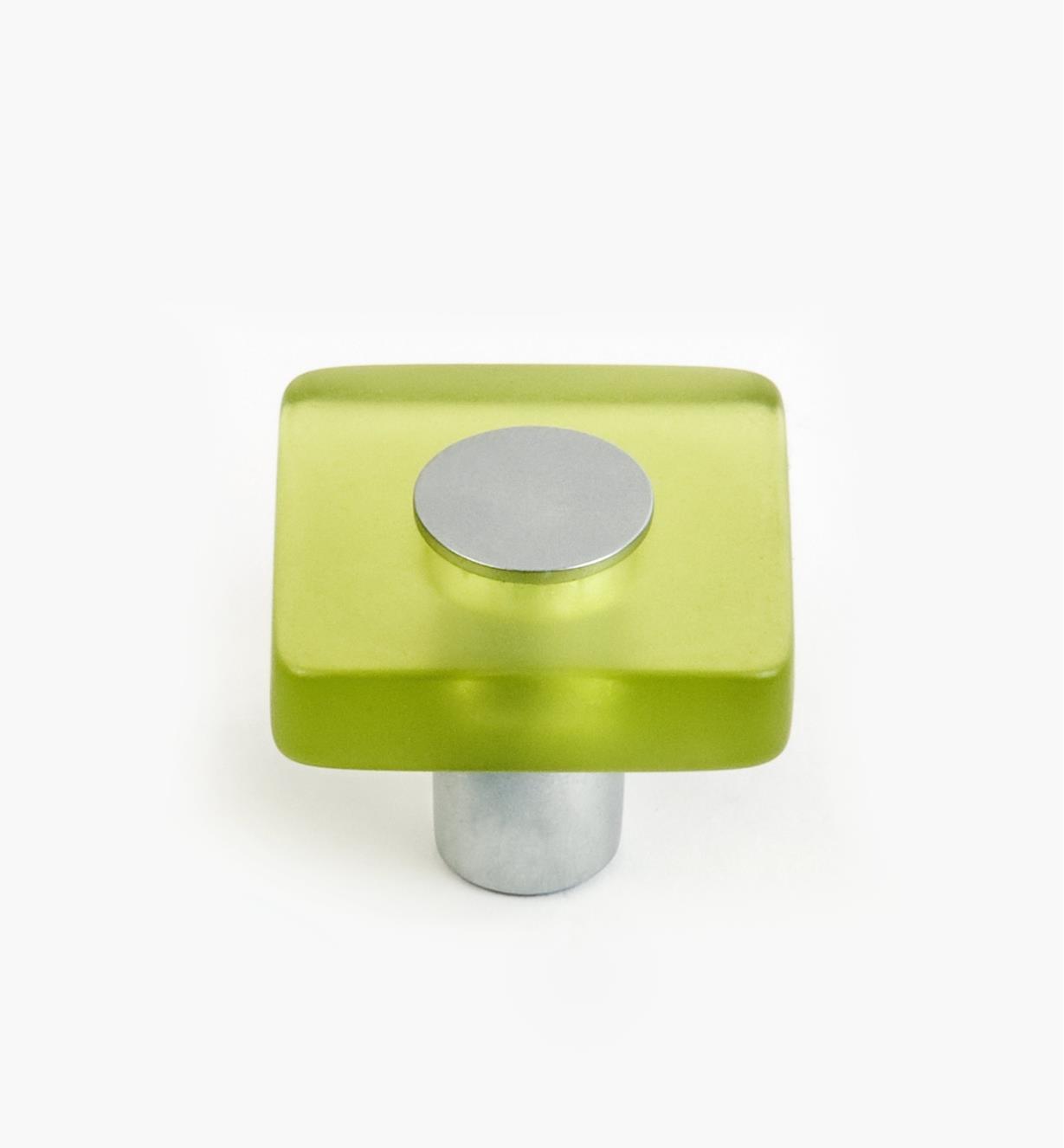 01W1150 - Malaga Hardware, Green Square Knob