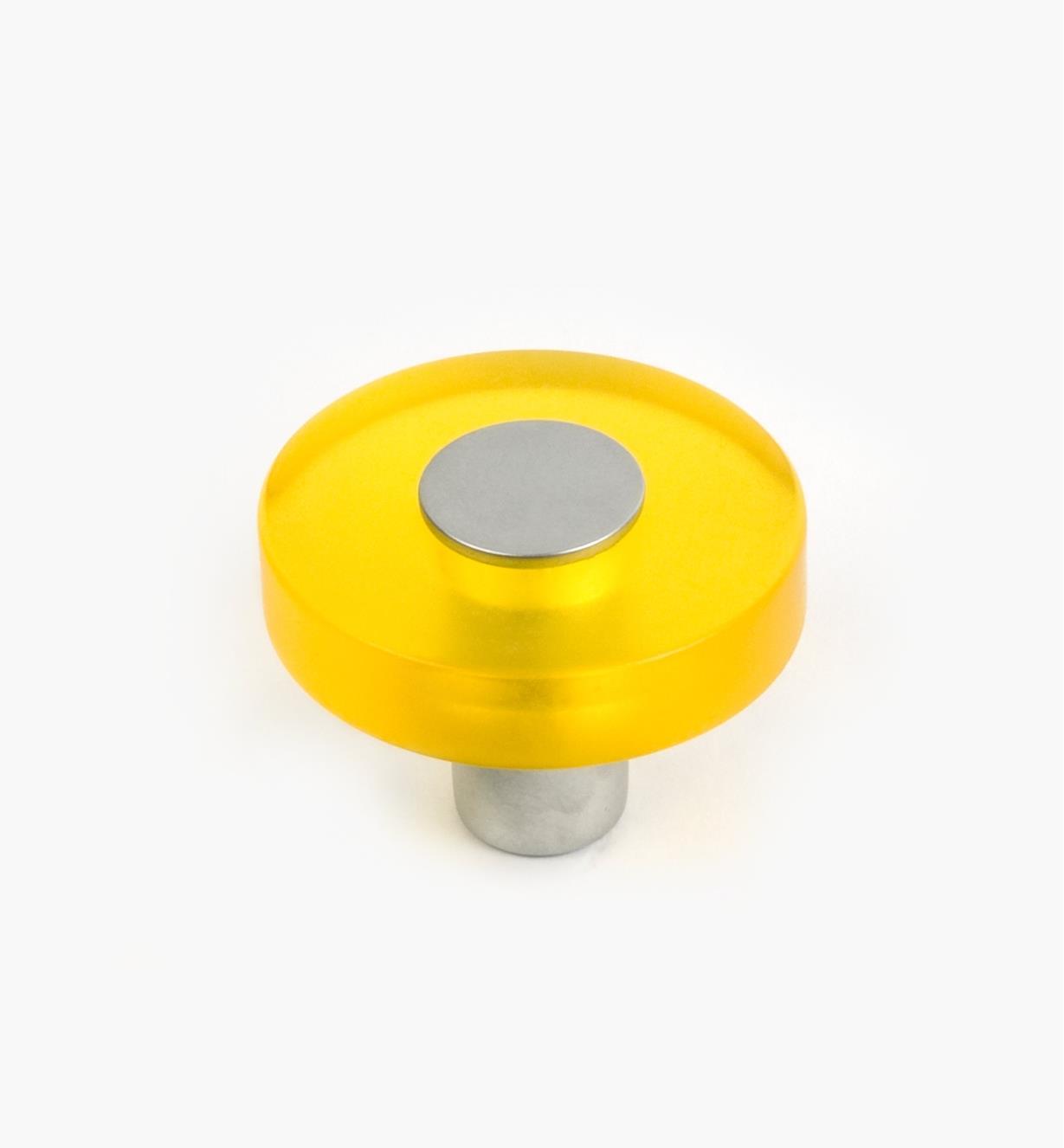 01W1181 - Malaga Hardware, Yellow Round Knob