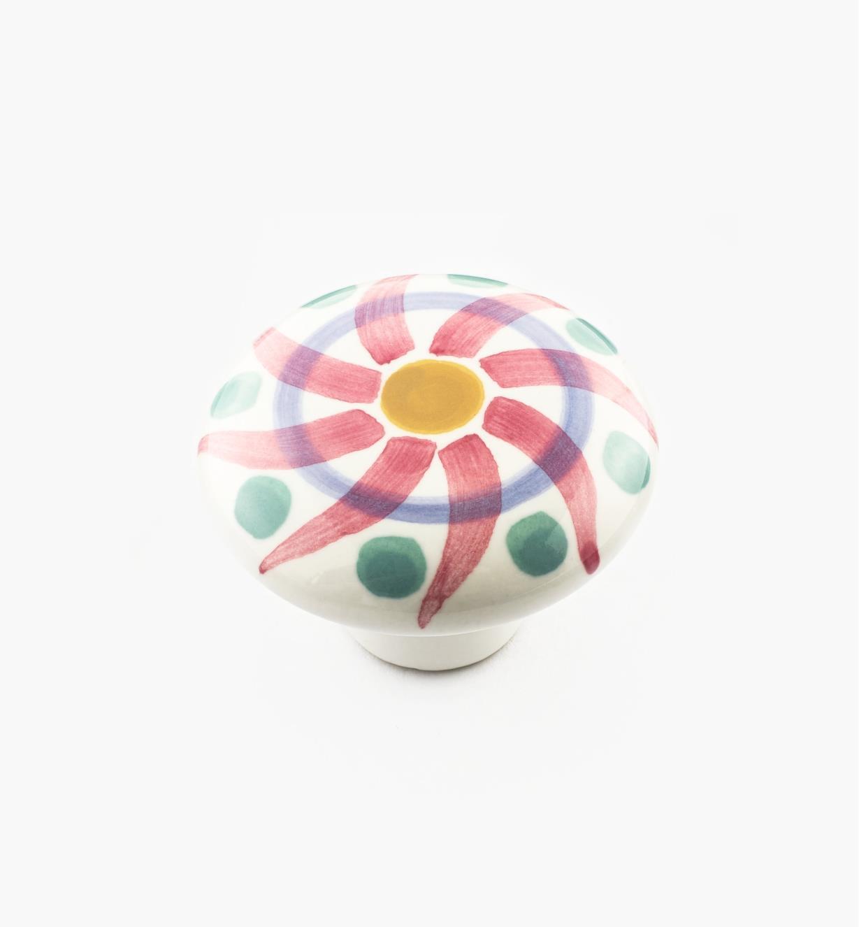 01W3102 - Red Swirl Knob