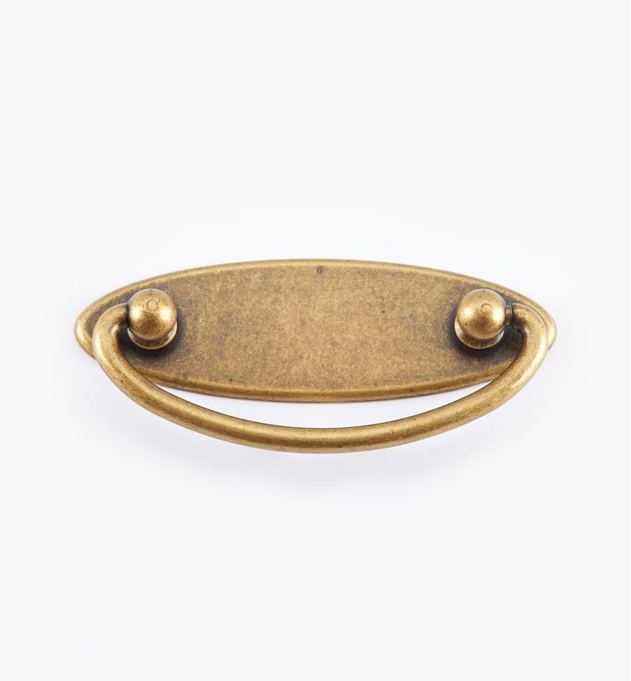 01X3010 - 64mm Antique Brass Plate Handle