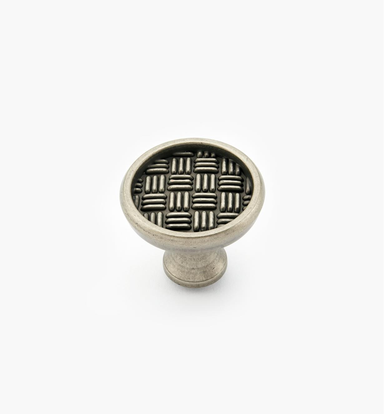 02A4135 - Patterns II Weathered Nickel Round Knob