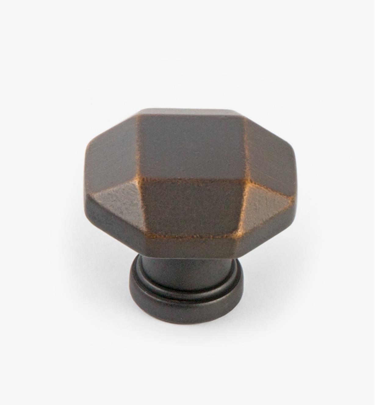 02A5271 - Bouton à facettes Menlo Park, bronzeantique, 11/4po
