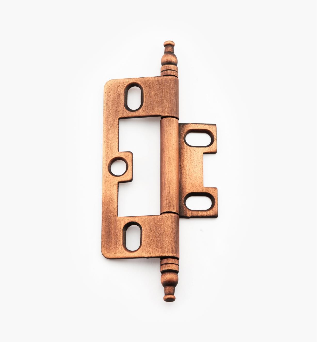 02H1273 - Weathered Copper No-Mortise Hinge/Minaret