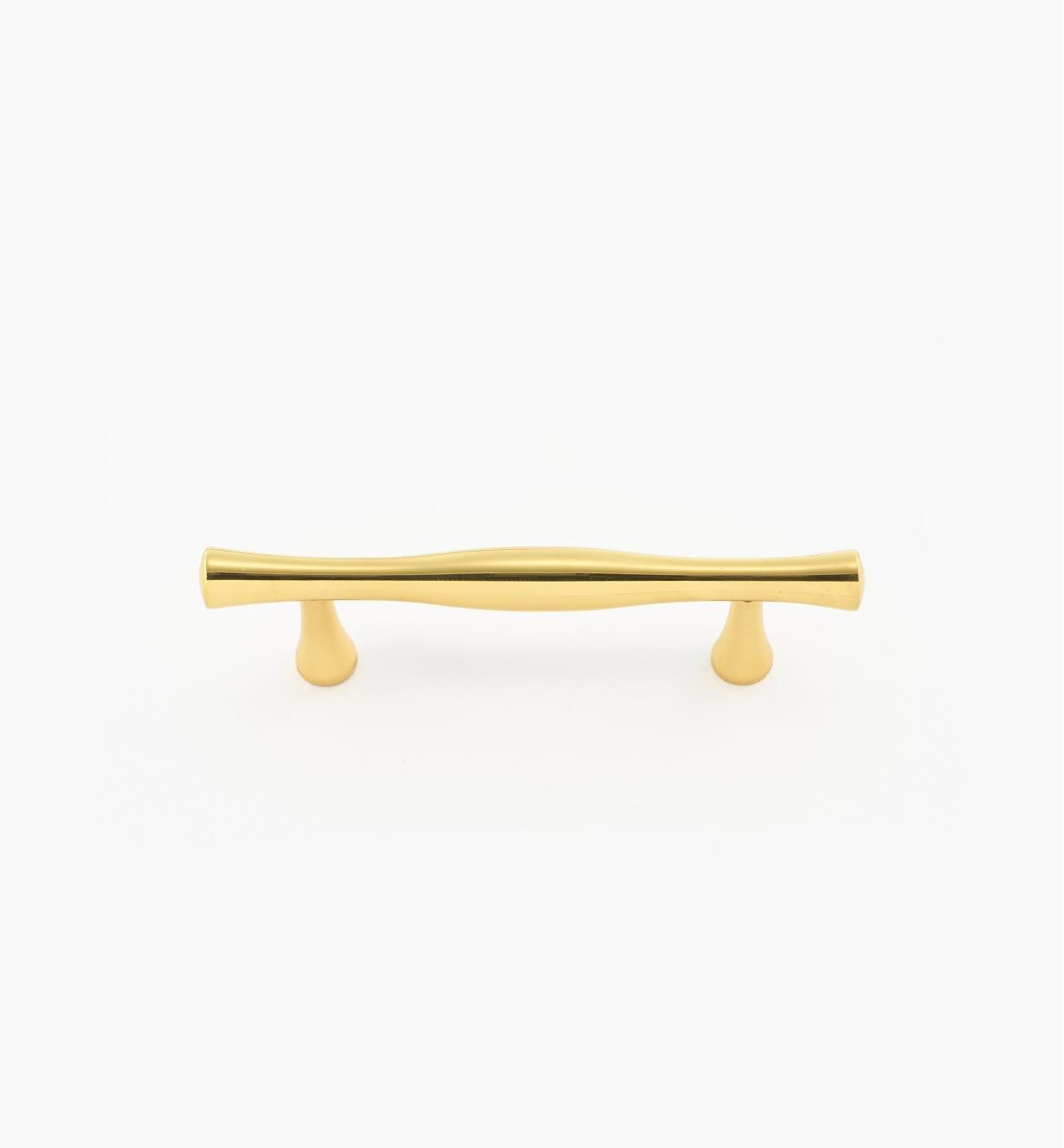 00W5880 - 64mm Turned Polished Brass Handle