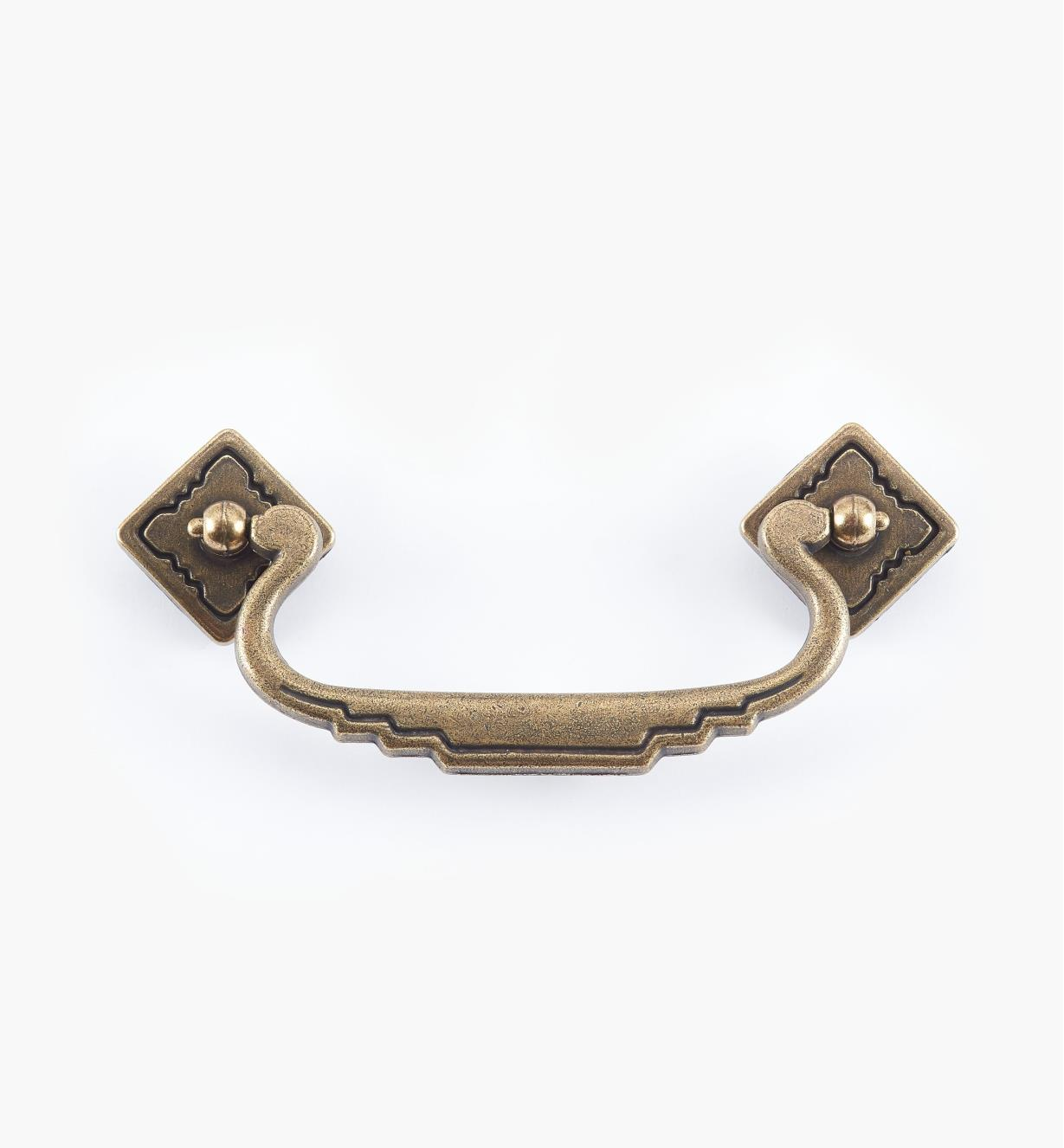 "01G6110 - 4 1/4"" Brass Bail Pull, ""Southwest"" Hardware"
