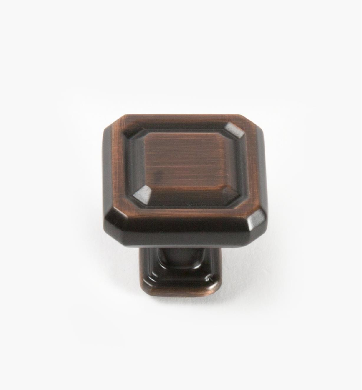 02A1605 - Wells Oil-Rubbed Bronze 32mm x 32mm Knob, each