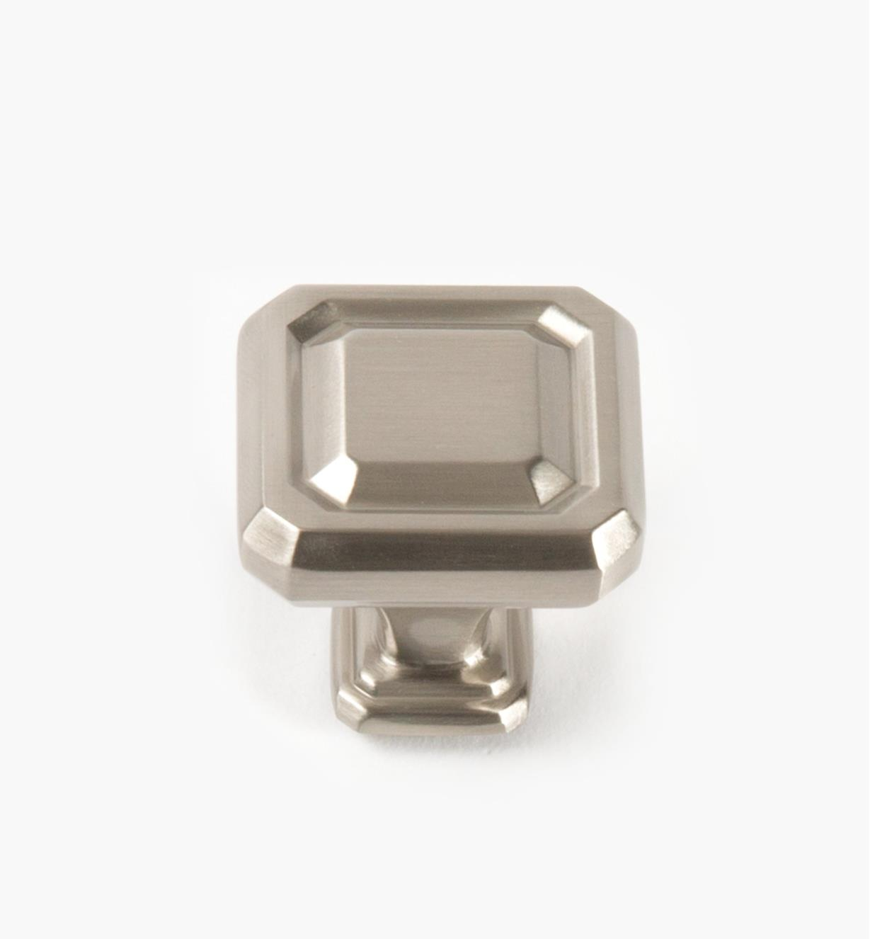02A1625 - Wells Satin Nickel 32mm x 32mm Knob, each