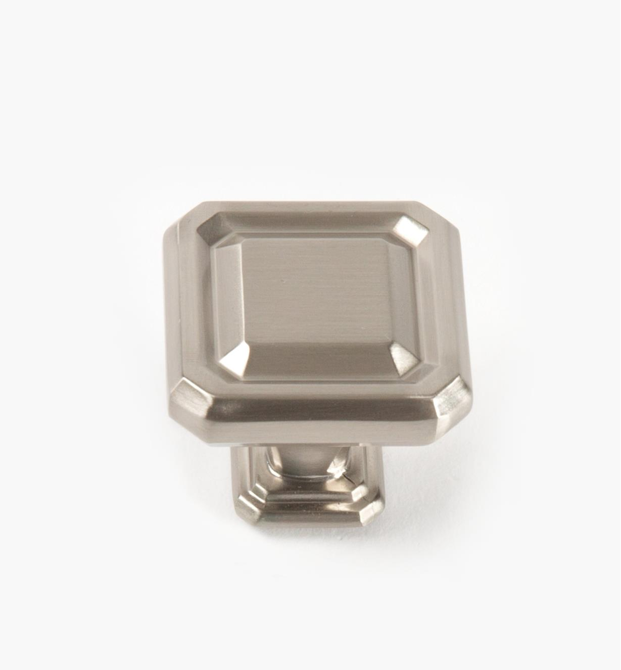 02A1626 - Wells Satin Nickel 38mm x 35mm Knob, each