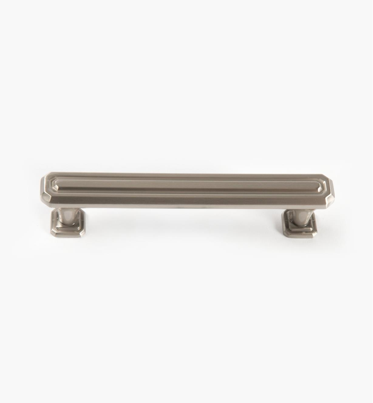 02A1628 - Wells Satin Nickel 128mm x 37mm Handle, each