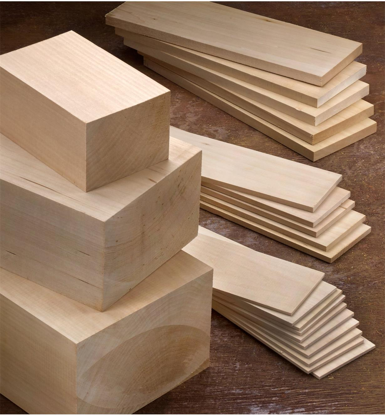 "55K5354 - 14"" x 5"" x 7"" Basswood Block, each"