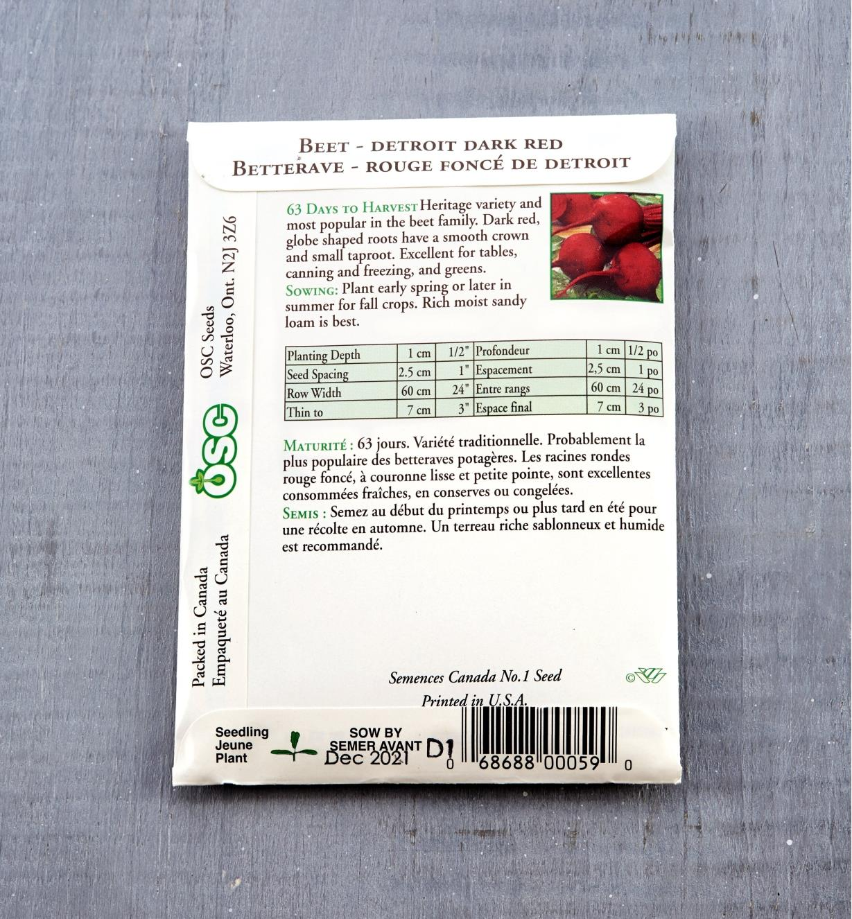 SD107 - Beets, Detroit Dark Red