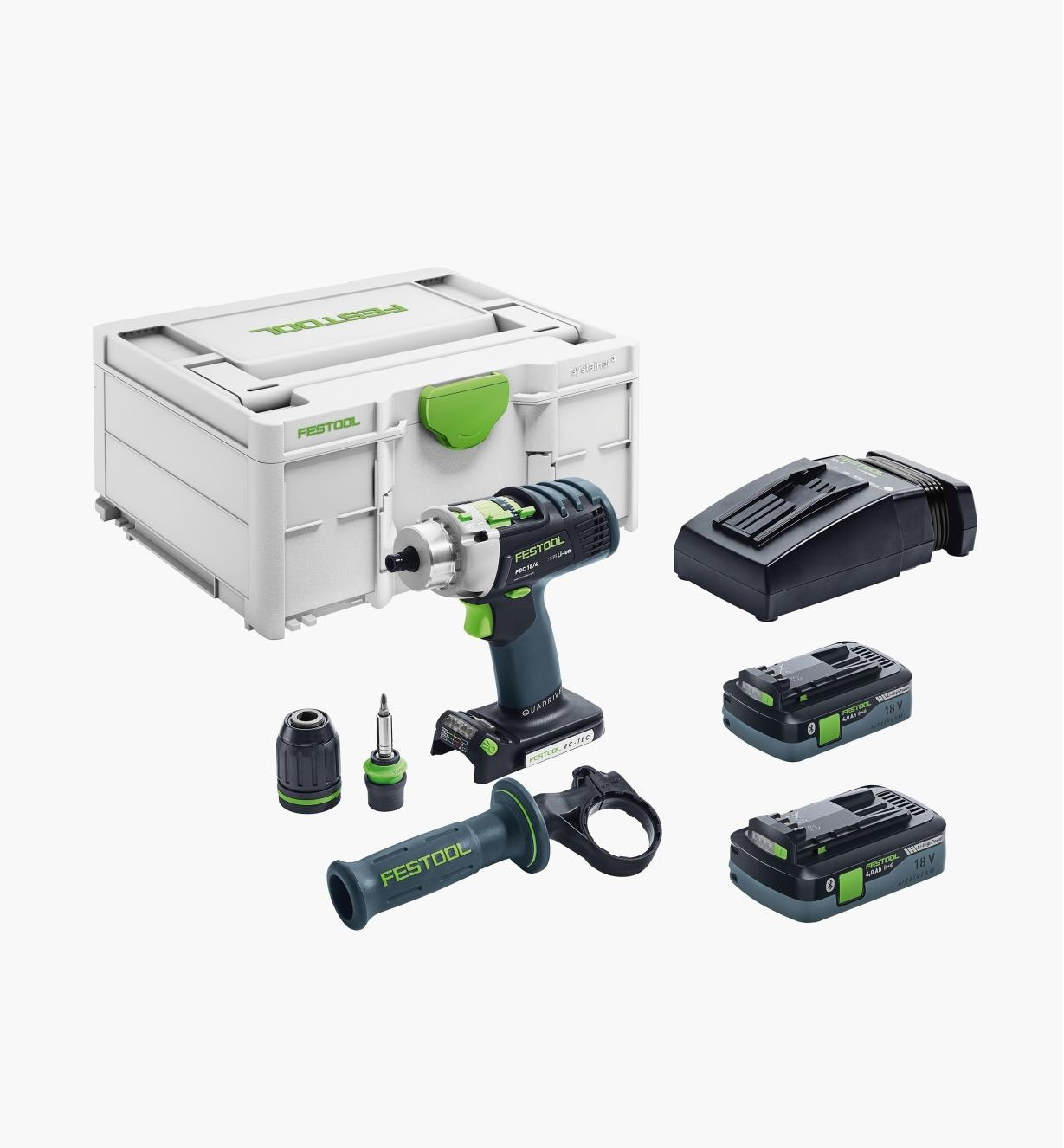 ZC576476 - Ensemble perceuse-visseuse à percussion sans fil PDC 18 Festool