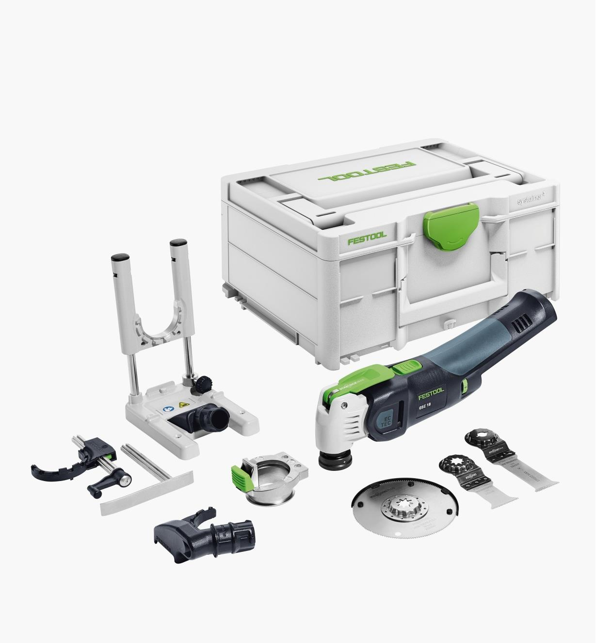 ZC576588 - Festool Vecturo OSC 18 Cordless Oscillating Tool Basic Set