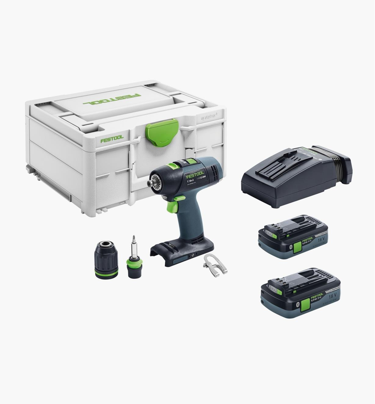 ZC576457 - Ensemble perceuse-visseuse sans fil T 18+3 Festool
