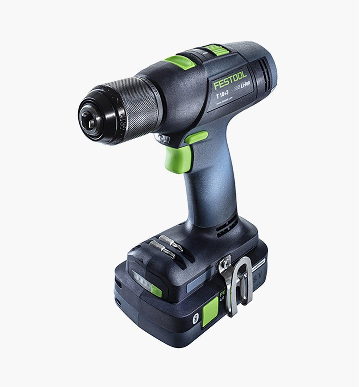 Festool T 18 3 Easy Cordless Drill Basic (battery shown not included)