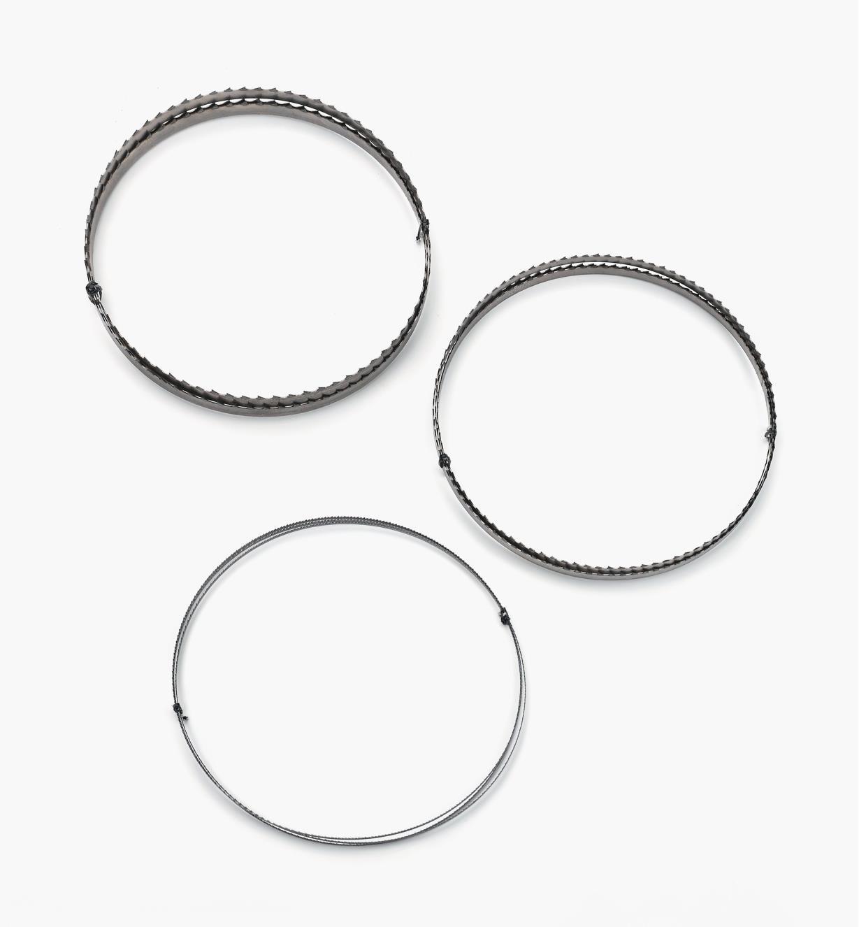 03J7385 - Jeu de trois lames pour scies à ruban de luxe 10 po Rikon