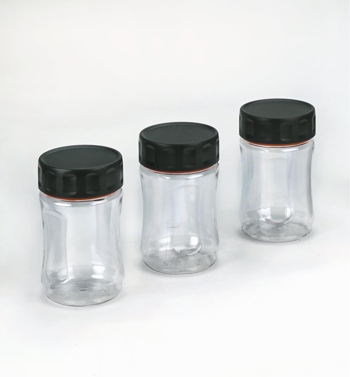 09A5340 - Lot de 3 bocaux Durajar 400 ml, transparent