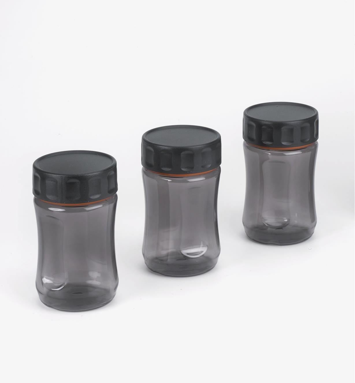 09A5341 - Lot de 3 bocaux Durajar 400 ml, gris