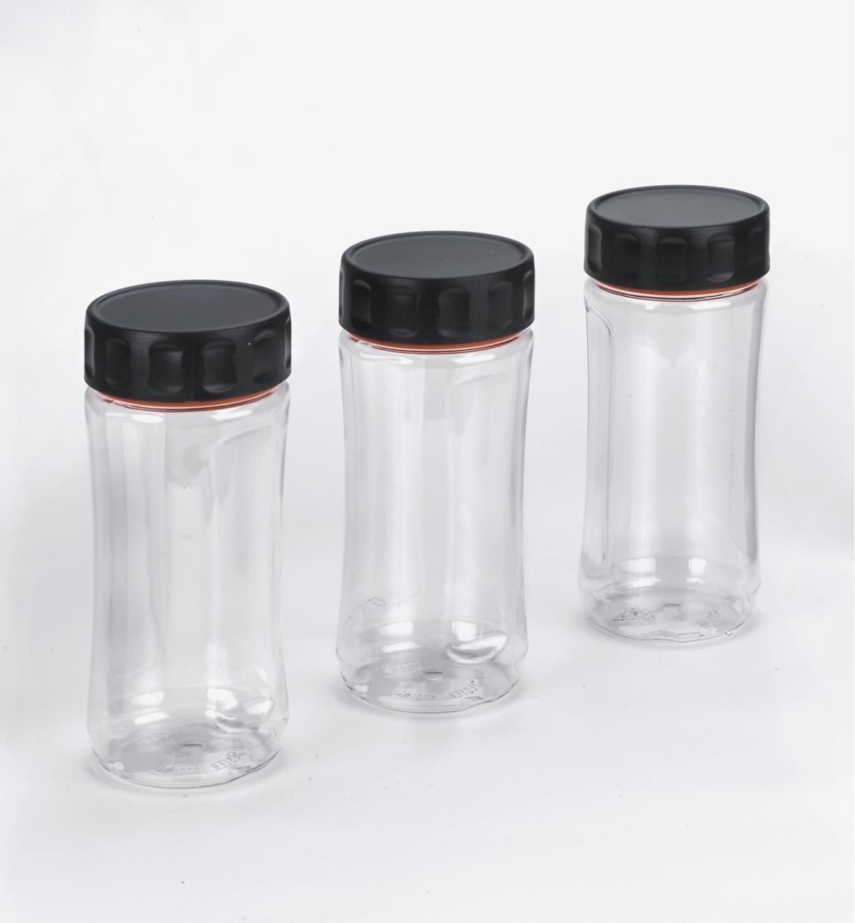 09A5360 - Lot de 3 bocaux Durajar 600 ml, transparent