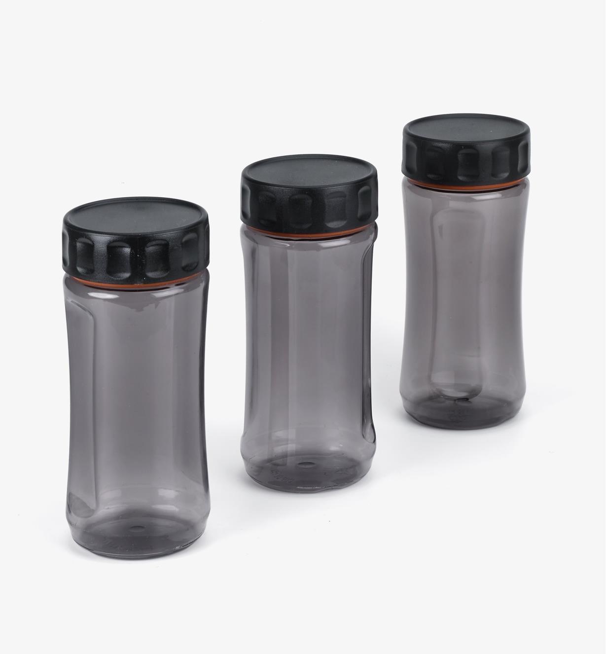 09A5361 - Lot de 3 bocaux Durajar 600 ml, gris