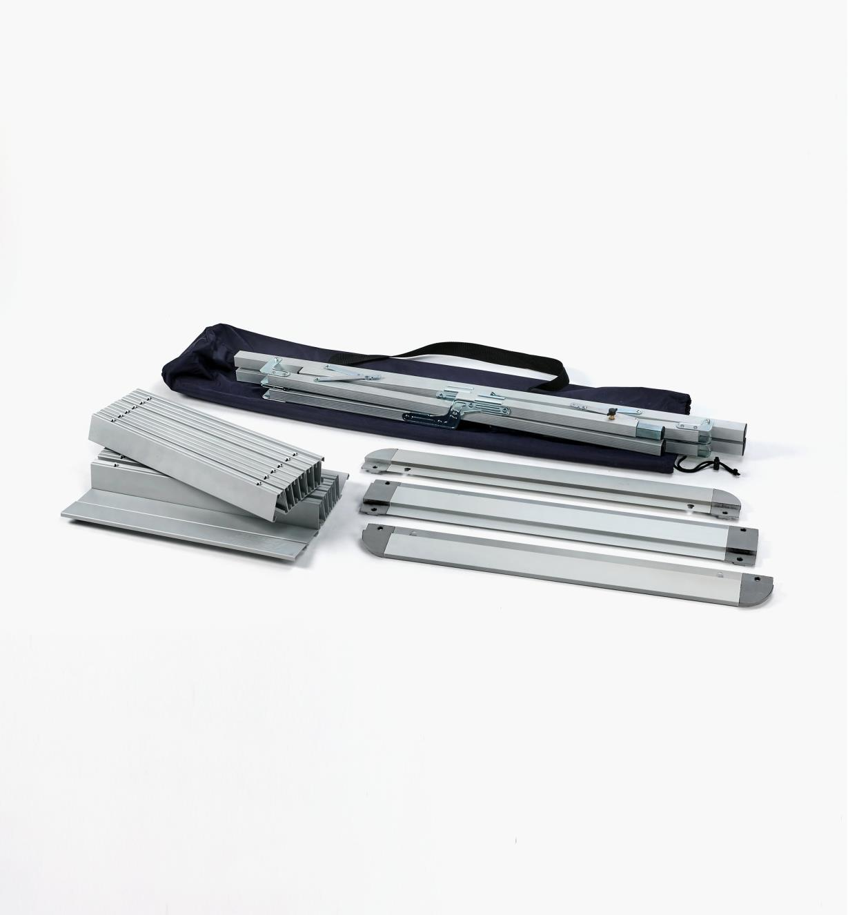 XJ265 - Table pliante en aluminium
