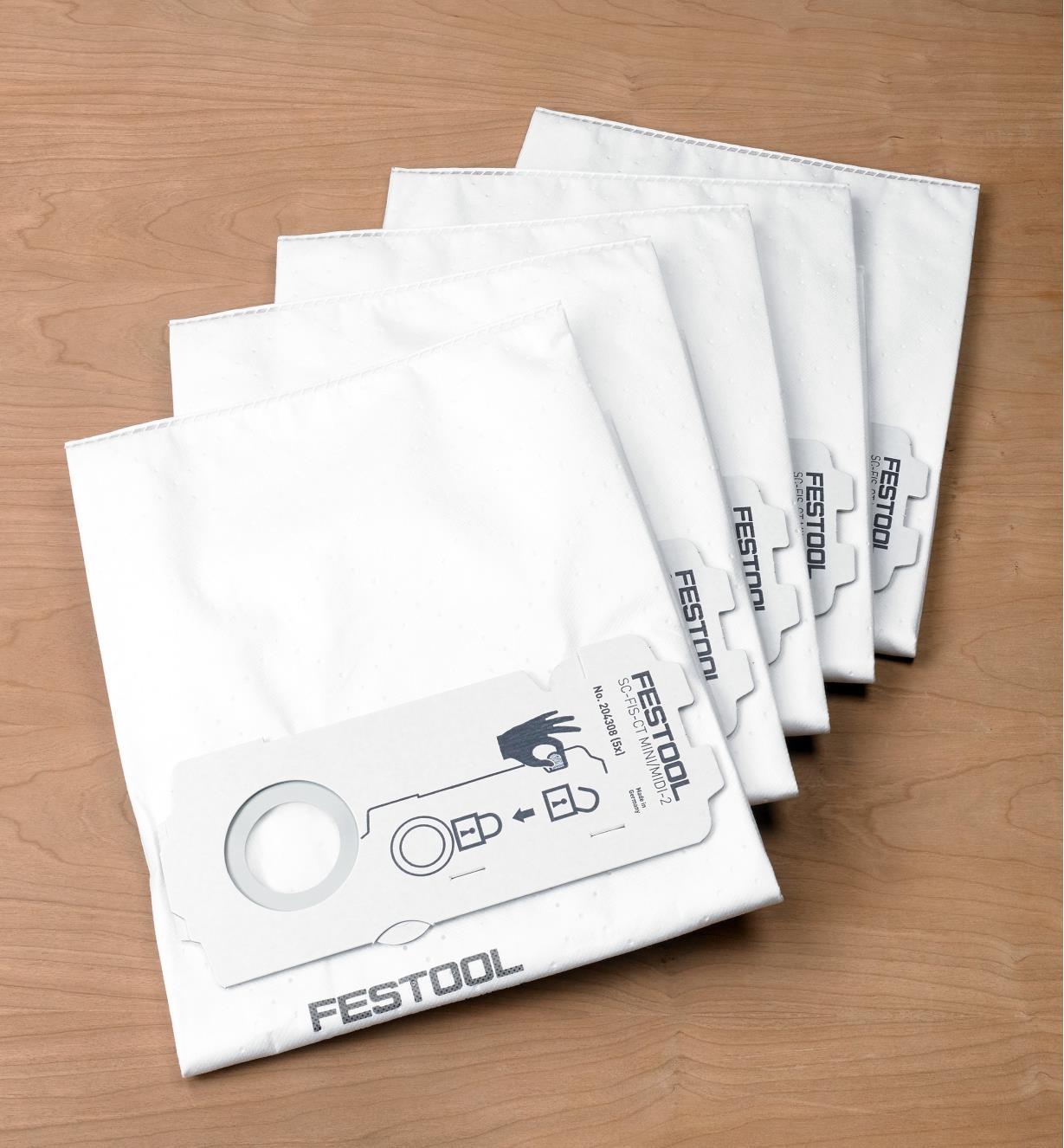 Selfclean Filter Bags for MINI/MIDI/CT 15, pkg. of 5