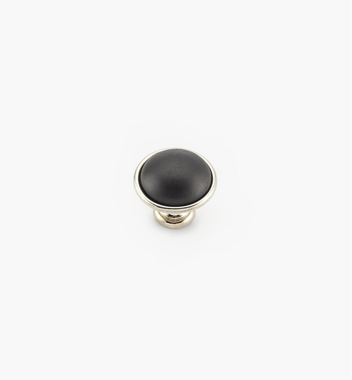 00A7762 - Bouton noir New Deco, 38 mm