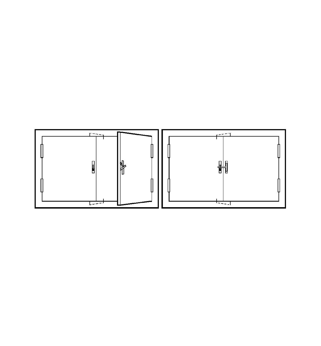 00H3101 - Loquet encastré pour portes sans dormant