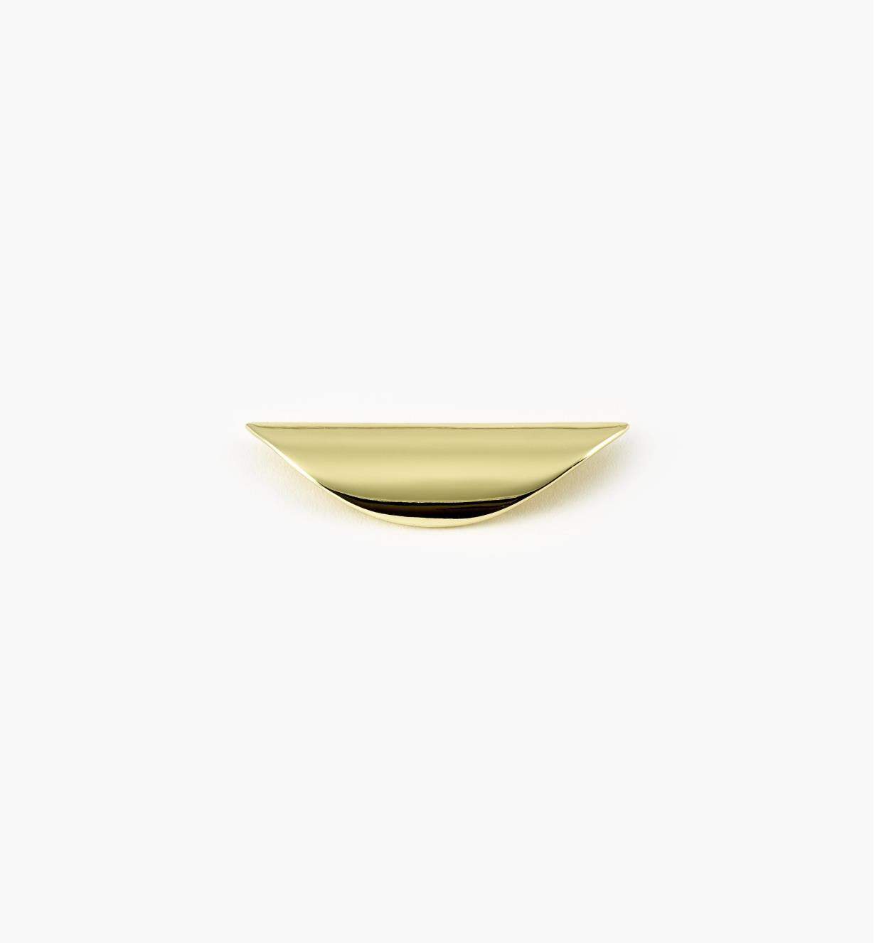 "00W3020 - 3 1/2"" Polished Brass Shell Pull (32mm)"