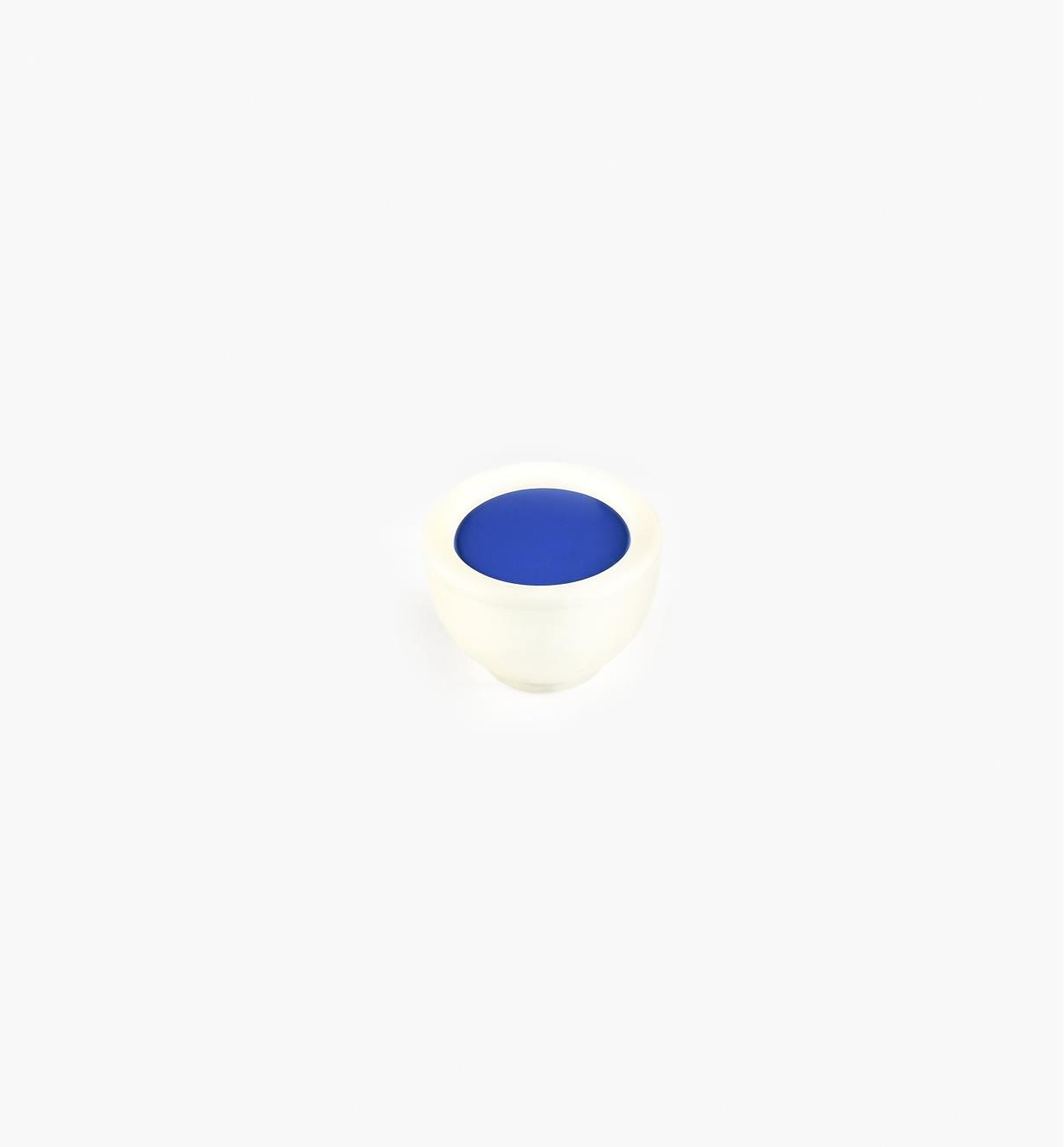 00W5410 - Bouton rond, 35mm, série Bungee, bleu
