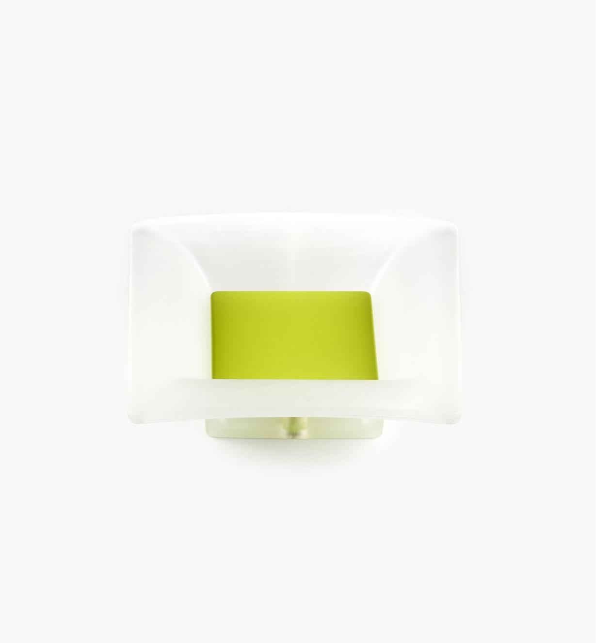 00W5422 - 32mm Bungee Square Pull, Chartreuse