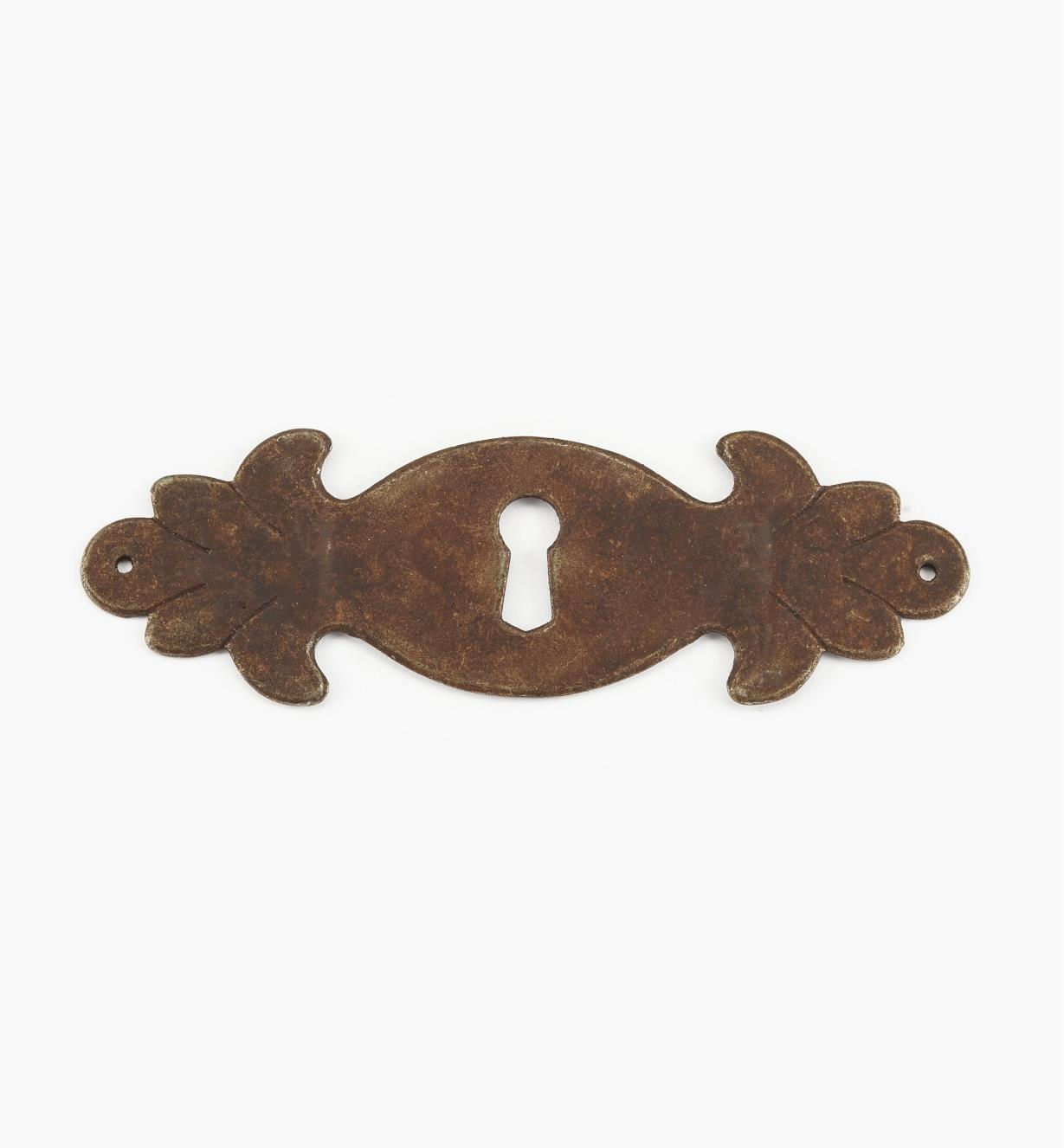 "01A2926 - 4 1/2"" Steel Plate Horizontal Keyhole Escutcheon"
