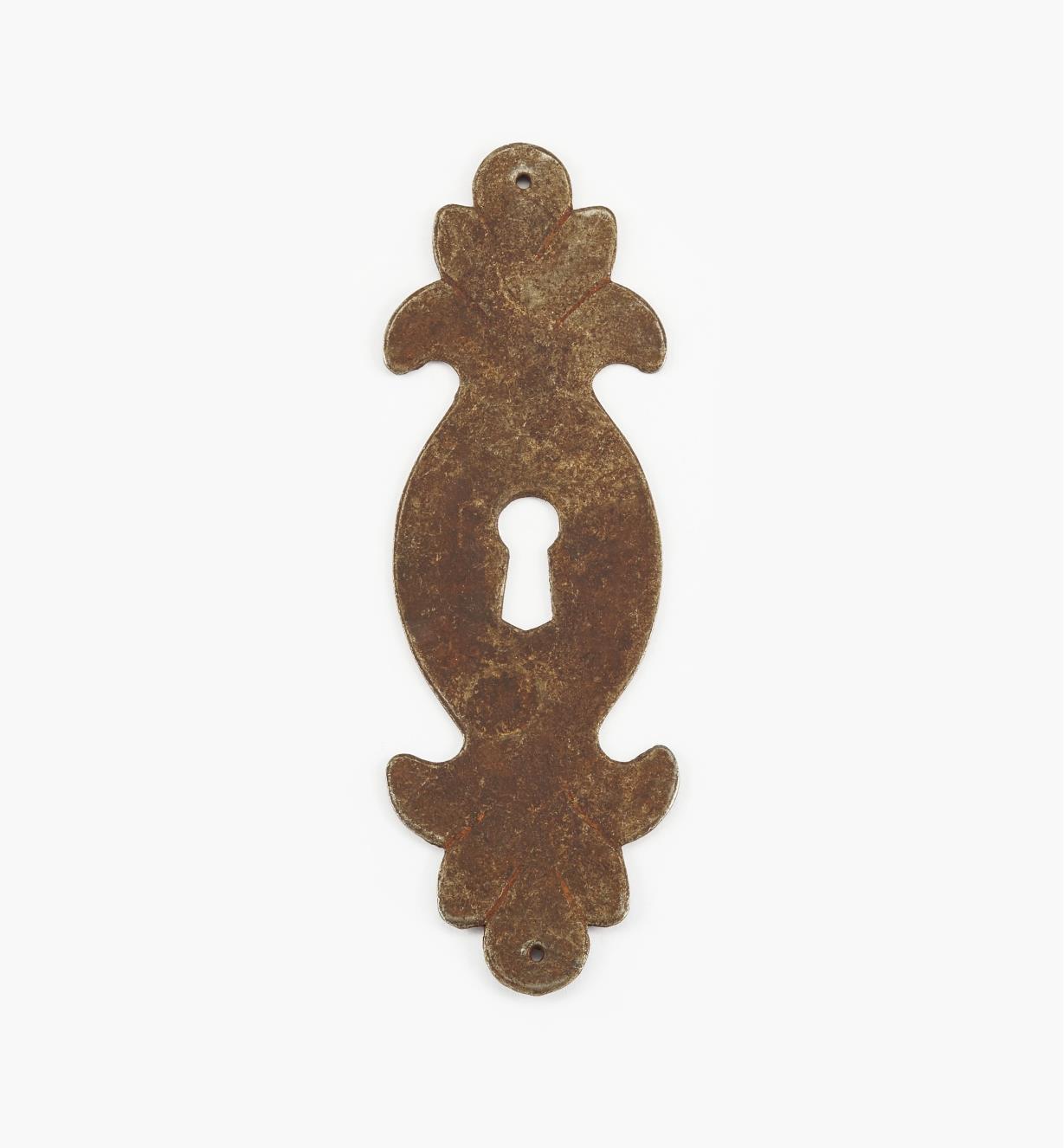 "01A2927 - 4 1/2"" Steel Plate Vertical Keyhole Escutcheon"