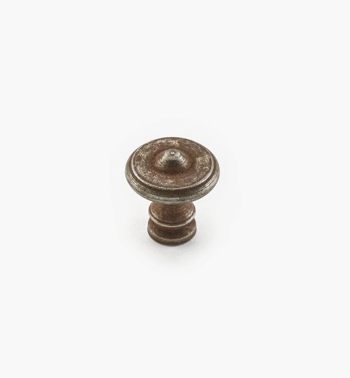 01A6051 - Bouton en acier, fini rouille, 20 mm x 20 mm