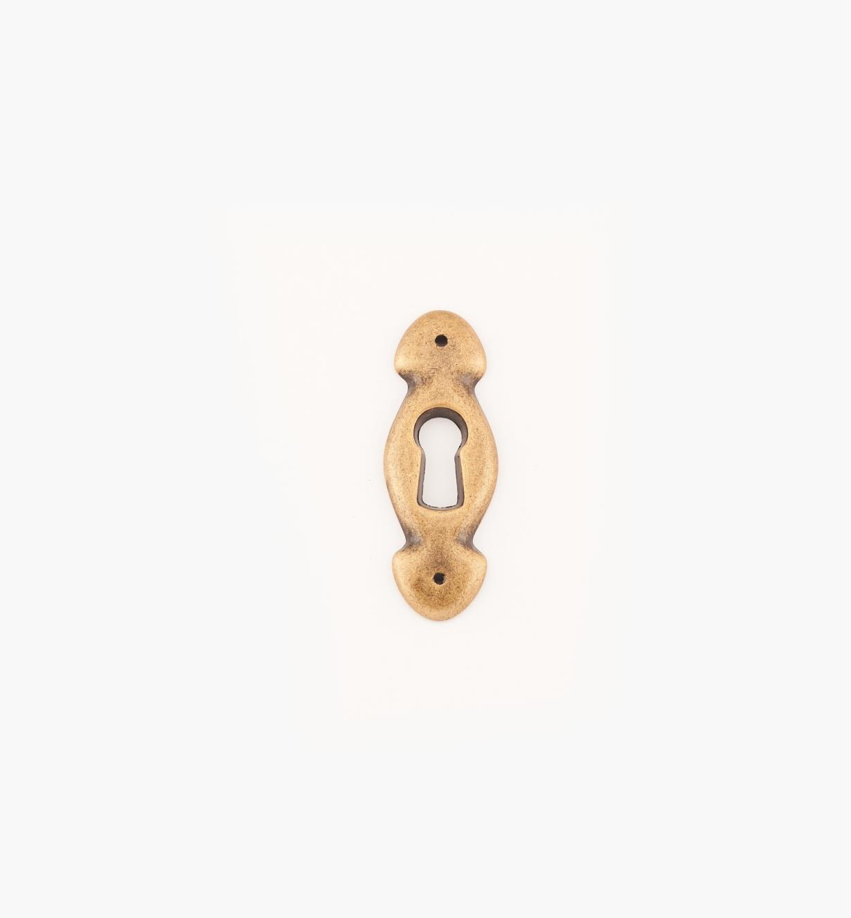 01A6941 - Entrée de serrure de 22 mm x 38 mm, série Regency, fini laiton antique