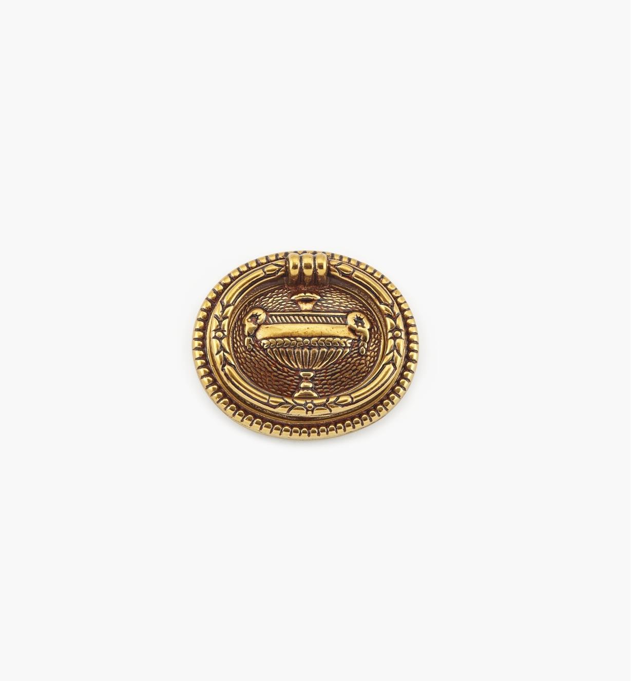 01A7350 - Poignée à anneau ovale de 50mm x 43mm, quincaillerie Louis XVI, série V