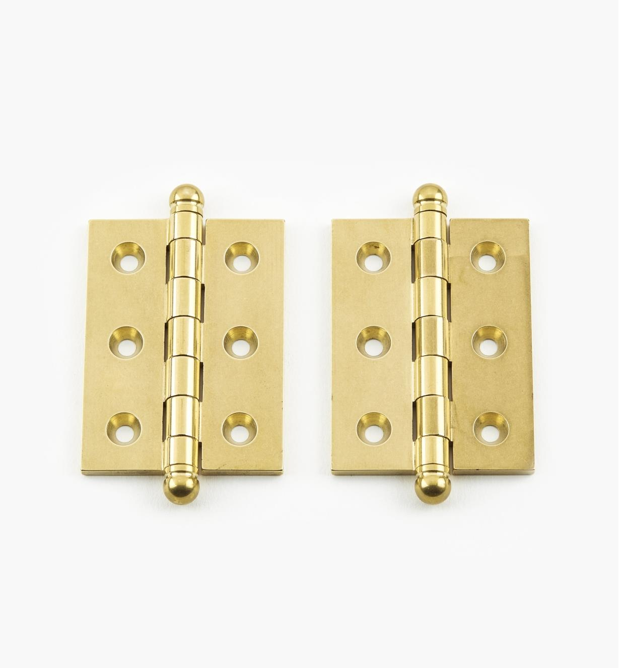 "01B0207 - 2"" x 1 1/2"" Ball-Tip Hinges, pr."