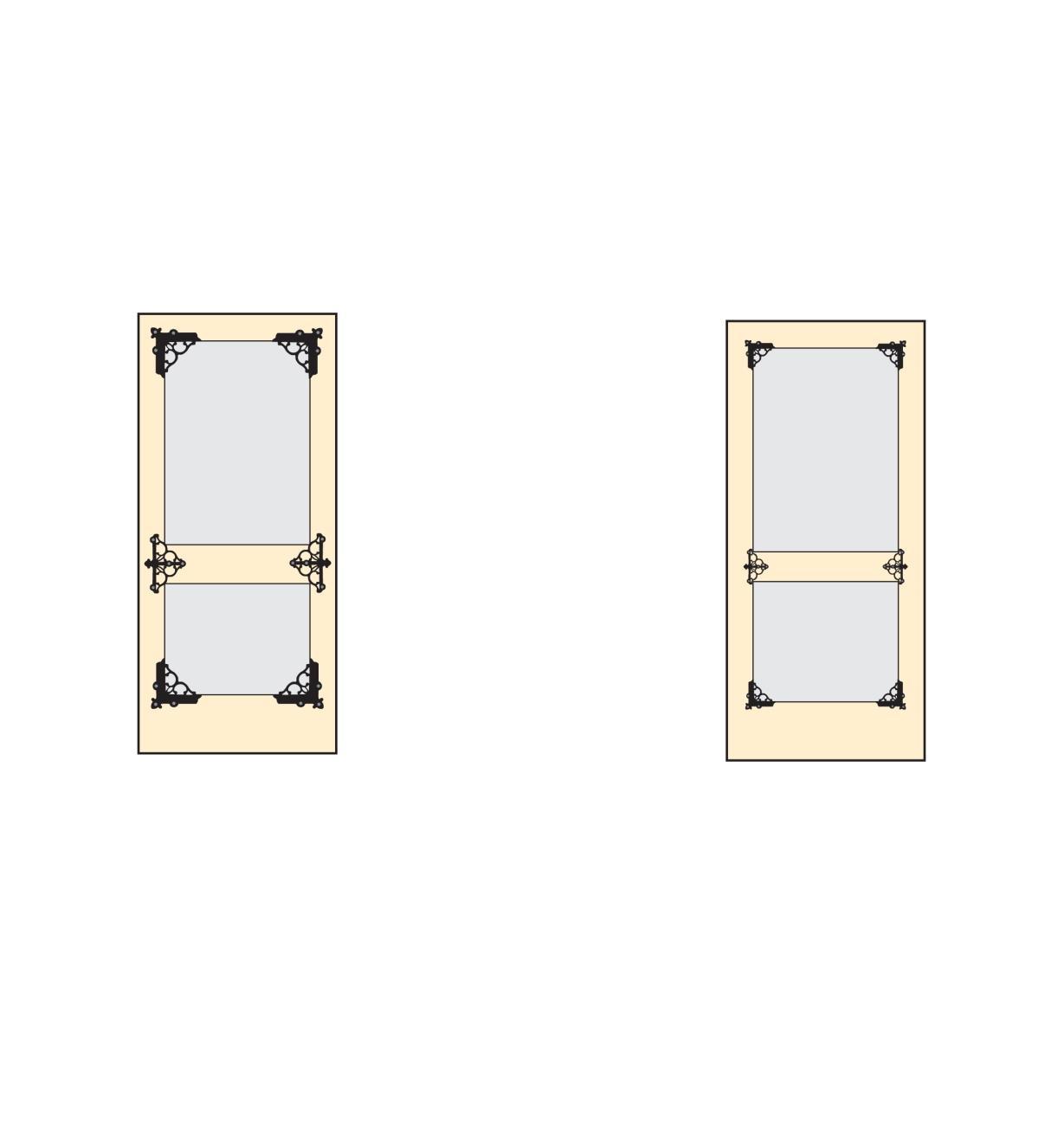 01K2911 - Équerres de renfort décoratives, le paquet de4