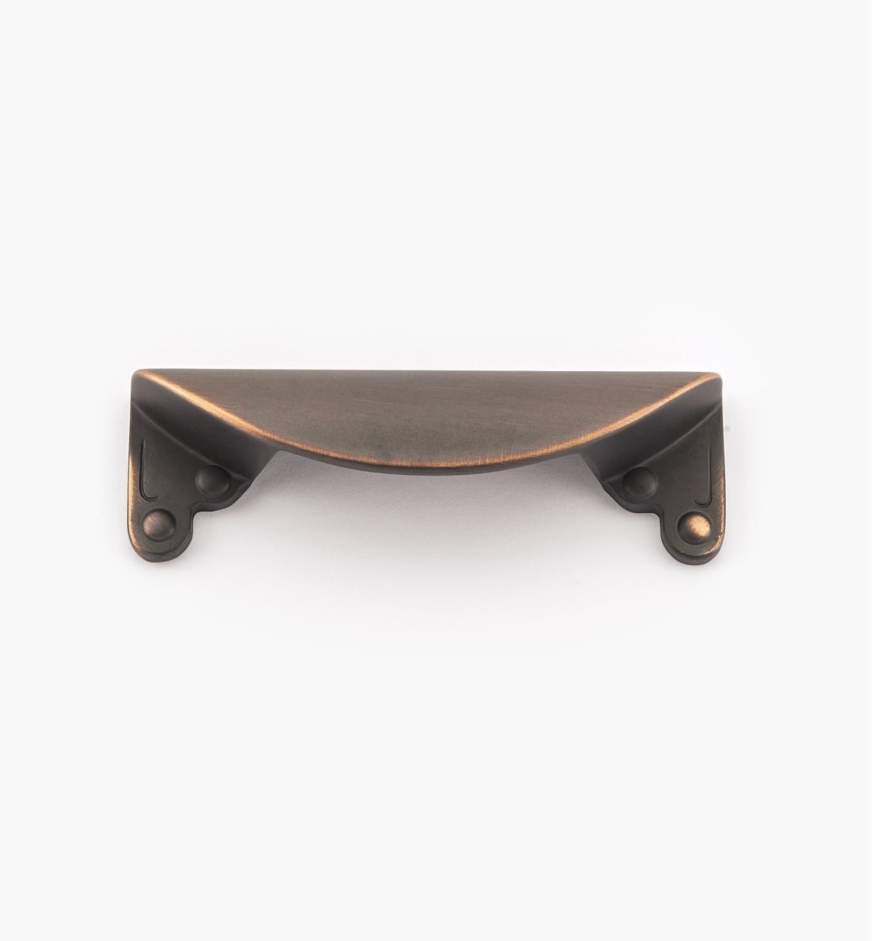02A0832 - Grande poignée à tirette, série Inspirations, fini bronze huilé