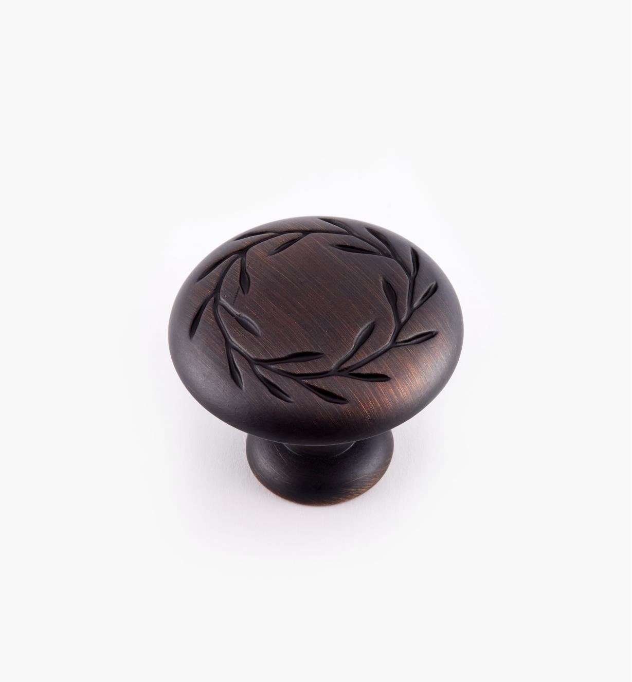 "02A1061 - 1 3/4"" Oil-Rubbed Bronze Leaf Knob"