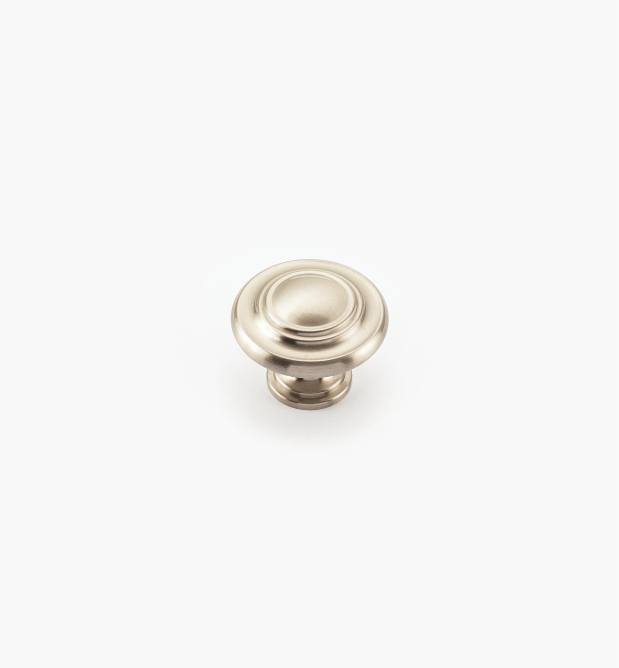 02A1080 - Bouton annelé de 13/4po, série Inspirations, fini chrome satiné