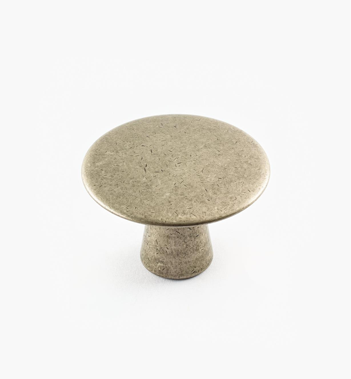 02A1310 - 40mm x 27mm Antique Nickel Plain Knob