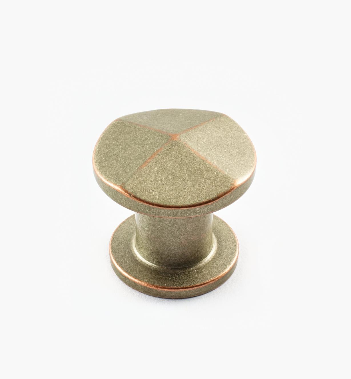 02A1512 - 30mm x 27mm Weathered Nickel-Copper Pyramidal Knob