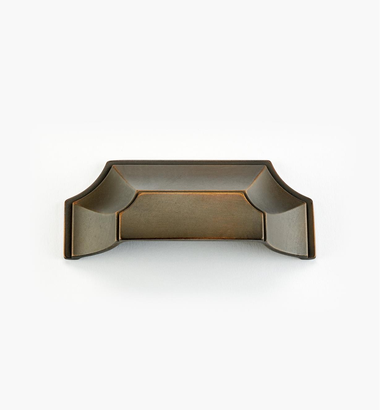 "02A5143 - Empire Suite – 3"" Antique Bronze Cup Pull (4 3/8"")"
