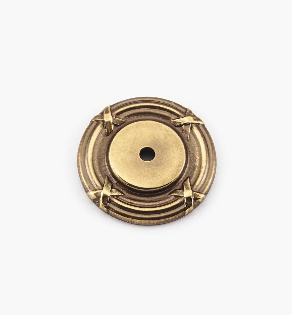 "02G0140 - 1 3/4"" Forged Brass Backplate"